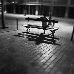 Night (gc6paris) Tags: street wood old city gay girls friends light boy shadow people blackandwhite bw woman dog sun storm man paris france building bus art me water mystery vintage square french photography three cafe eyes europe day mood shine play chairs watch watching perspective sunny willow squareformat strike format rise anonymous inkwell français app iphone scintillement fliter blackwhitephotos effetc iphoneography instagram instagramapp uploaded:by=instagram