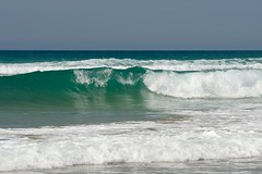 Wave at Trebarwith Strand (mikeplonk) Tags: blue sea sky white seascape green water nikon cornwall surf wave foam splash atlanticocean trebarwithstrand d5100