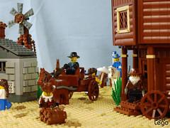 03 (benlego) Tags: old horse west building windmill car corner cowboy lego bricks contest jail western guns 2013 lowlug benlego