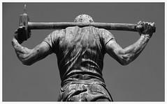 If you've got a hammer... (czorneboh) Tags: sculpture man art fountain bronze germany deutschland saxony springbrunnen brunnen skulptur sachsen dohna czornebohphoto
