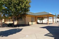 Southern Pacific Railroad, California, Lodi (EC Leatherberry) Tags: california railroad station restored depot moved 1907 amtrakstation transitcenter sanjoaquincounty southernpacificrailroad