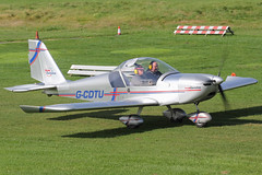 G-CDTU - 2005 build Aerotechnik EV-97 Eurostar, visiting Barton (egcc) Tags: manchester eurostar aviation barton microlight 2522 cityairport ev97 cosmik aerotechnik egcb rotax912 gcdtu