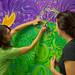 Carnival de Resistance at EMU - Cedarwood mural painting