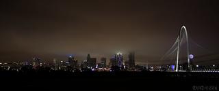 Cloudy Fog Dallas Skyline