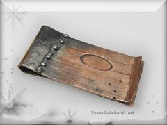 MONEY CLIP (VesnaKolobaric - art) Tags: money designer clip moneyclip cardclip uniquemoneyclip coppermoneyclip mixmetalmoneclip
