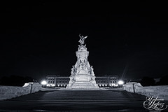 Buckingham Palace (Umbreen Hafeez) Tags: city uk light england st night stairs mall dark james europe long exposure low steps royal palace gb buckingham bight loncon