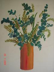 Florero Naranja (alonsotegui) Tags: art arte cuadros pinturas oleo tela jarron oleos inconcluso lienzos