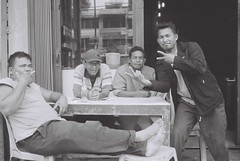 mid-afternoon regulars (terrorstorms) Tags: blackandwhite film 35mm canon sumatra indonesia canonet bnw brastagi