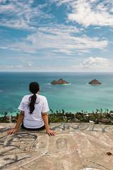 Wifey (boingyman.) Tags: beach girl hawaii oahu hiking wife hi wifey kailua lanikai pillboxes boingyman