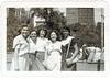 Smiling friends (sctatepdx) Tags: newyork snapshot vernacular vintageclothes oldsnapshot vintagepurse vintagesnapshot