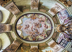 One of the smallest ceiling in the Saint Nicholas Cathedral (Iztok Alf Kurnik) Tags: travel building art history tourism church glass architecture buildings geotagged holidays europe catholic czech prague artistic basilica madonna religion jesus prag praha praga stainedglass tourist sunshade czechrepublic catholicchurch cz baroque virginmary mozart oldtownsquare stnicholaschurch lessertown jesuschrist praguecastle czechart 13thcentury parishchurch artphotography travelphotography historicplaces starmsto baroquearchitecture traveltheworld paintedwindow sunthroughthewindow baroquechurch kostelsvathomikule vrovice saintnicholascathedral czechtourism chrmsvathomikule christophdientzenhofer kilianignazdientzenhofer paololivornosfriends dominikduka religionsymbols frantiekxaverpalkos iztokkurnikphotographystudio vision:outdoor=0669 prahaeu churchpaintedglass barokn dientzenhoferssupremeachievement frantiekigncplatzer janlukaskrackers showinmyeyescathedral themostimpressiveexampleofpraguebaroque