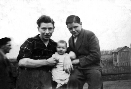 Dick with Helen and Eddie Smith 1950s