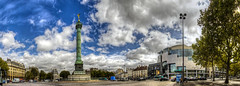 Place de la Bastille, Paris (F) (Panoramyx) Tags: plaza panorama paris france frankreich îledefrance place platz frança panoramica piazza francia bastille parijs parís parigi plaça placedelabastille francelandscapes plazadelabastilla