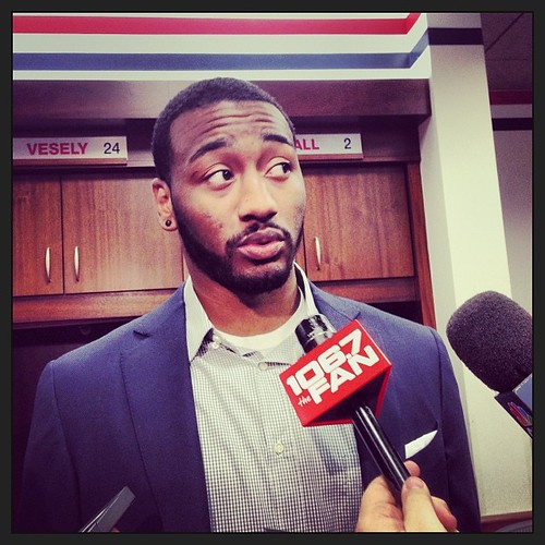 John Wall, post game presser routine. #wizards, 12/28/2013