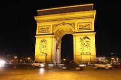 Arc De Triomphe, Paris (Geraldine Curtis) Tags: paris cars yellow gold arcdetriomphe