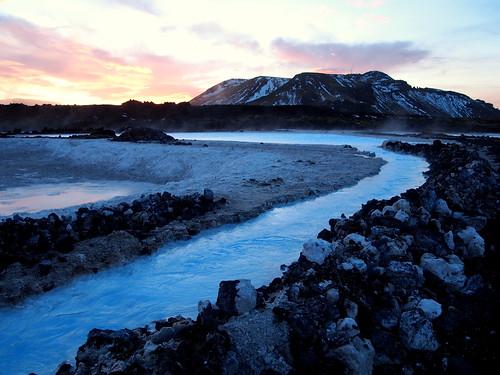 Sunrise on the Bláa Lónið (Blue Lagoon)
