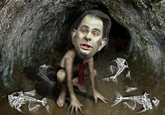 Scott Walker - Governor Gollum (DonkeyHotey) Tags: face wisconsin photomanipulation photoshop phot