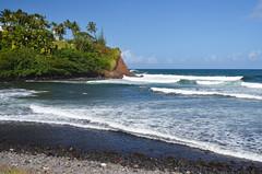 Honoli'i Beach (malinowy) Tags: road trip winter usa hawaii us nikon holidays unitedstates roadtrip hi bigisland hilo nikkor zima thebigisland 1870 wakacje hawaiianislands honolii malinowy d7000 malinowynet