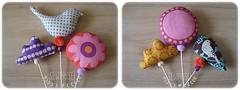 saquinhos conj 3 (Sewprise!) Tags: flor pssaro nuvem alfazema decorativo saquinhos