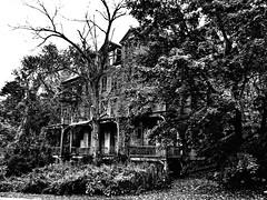 Spooky House - Bennington VT ( blankbob60  Throw me a bone?) Tags: blackandwhite bw house halloween mono vermont highcontrast eerie haunted spooky ghosts bennington goblins ghouls abovealltherest blankbob60