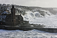 Porthleven 08/02/14 (Peter Sincock) Tags: sea storm canon cornwall waves wind surge porthleven eos40d