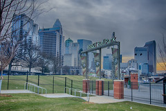 CHARLOTTE KNIGHTS STADIUM (AgFineArtPhotography.com) Tags: new morning copyright sports sport fence ball major downtown day baseball charlotte stadium competition pro glove nights complex base ballpark league complete homerun bbt grandopening copyrighted 2014