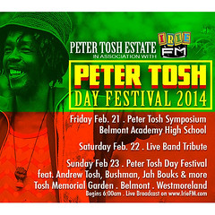 "Peter Tosh Day 2014 • <a style=""font-size:0.8em;"" href=""http://www.flickr.com/photos/92212223@N07/12816364344/"" target=""_blank"">View on Flickr</a>"