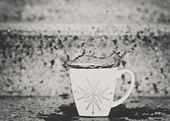 Black and White Coffee Splash (HugsNotDrugs11385) Tags: coffee mug coffeesplash nikor50mm14g nikond5100
