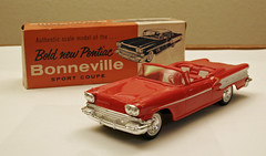 1958 Pontiac Bonneville Convertible Promo Model Car - Rangoon Red (coconv) Tags: pictures auto old red history classic cars scale car vintage photo promo model automobile image photos antique picture convertible images plastic 124 vehicles photographs photograph sample 1958 vehicle historical pontiac kit autos collectible collectors promotional coupe bonneville automobiles dealership johan dealer rangoon mpc 58 125 amt smp hubley revell banthrico