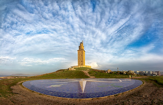 The skies of the Tower of Hercules in La Coruña