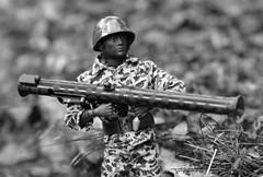 GI Joe Marine (Polish Madman) Tags: man gijoe soldier backyard marine war action anniversary wwii helmet joe korea ii camouflage bazooka years ww combat 50 gi hasbro actionman palitoy