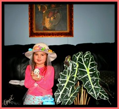 Violet's Home made Easter Bonnet, for school (Lynn English-computer problems) Tags: violet easter bonnet