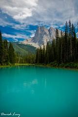 Emerald lake it is (Drjdam) Tags: canada yoho emerald lake mountains trees turquoise teal sky clouds