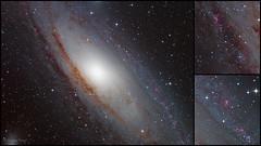 Andromeda Galaxy - M31 collage (cfaobam) Tags: andromeda galaxy m31 andromedagalaxie astronomie deepsky goto deutschland germany astrophoto astrofoto bayern astrofotografie cfaobam astronomy telescope teleskop odenwald obernburg miltenberg aschaffenburg pixinsight deepspace sky andromedagalaxy ontc newton losmandy g11 moravian g28300