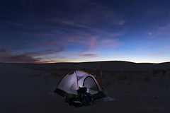 Camping in White Sands (冬梦) Tags: whitesands nightsky camping wildness desert sunset