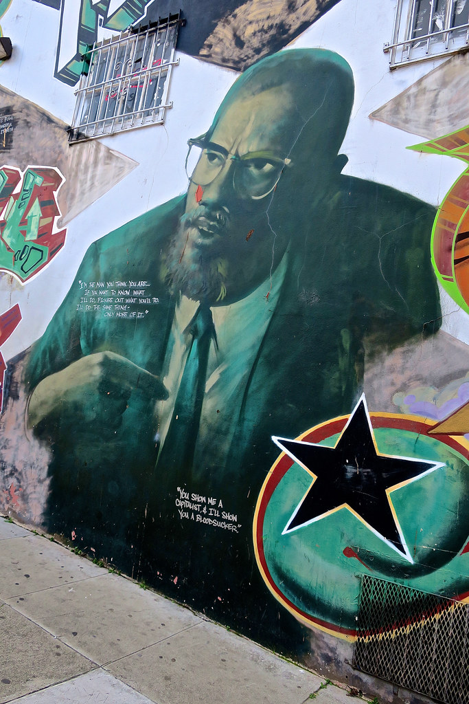 The world 39 s best photos of malcolmx and sanfrancisco for Malcolm x mural