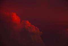 Red Skies (Matt Champlin) Tags: thunder thunderstorm weather storm stormy red clouds summer glow glowing amazing sky cloud canon 2016