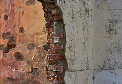Bricks & Decay (orientalizing) Tags: abandoned architecture georgia kvemochocheti paint peeling qsaniregion ruins
