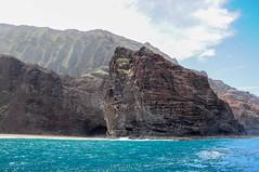 is this real life? (-Mina-) Tags: hawaii usa nature landscape kauai napalicoast coast cliffs ocean sea outdoors boat water blue rocks cave