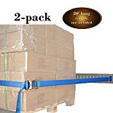 """TWO 2"""" x 20' E Track Ratcheting Strap Heavy Duty Cargo TieDowns, Durable Blue Polyester Tie-Down Ratchet Straps, ETrack Spring Fittings, Tie Down Motorcycles, Trailer Loads, by DC Cargo Mall (wagonlancer) Tags: blue cargo down durable duty etrack fittings heavy loads mall motorcycles polyester ratchet ratcheting spring strap straps tiedown tiedowns track trailer"""