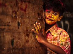 Colored Hands - Bengaluru, India (Kartik Kumar S) Tags: holi kid street bengaluru bangalore karnataka india canon 600d 50mm colors festival hands