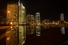 Reflection At Zaytouna Bay, Beirut Lebanon (Paul Saad) Tags: boat beach sea marina zaytouna bay capital city design architecture building nikon lebanon exposure night beirut skyline water waterfront outdoor complex reflection
