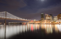 "Beautiful San Francisco ""beneath the pale moonlight."" (mpsv) Tags: sanfrancisco sf bayarea sflife baybridge frisco longexposure landscapephotography landscape"