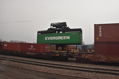 Shipping Containers (Adventurer Dustin Holmes) Tags: 2017 train railroad loading evergreen shippingcontainer shippingcontainers