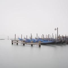 Gondola Station (Vesa Pihanurmi) Tags: gondolas fog venice venezia sanmarco longexposure minimalism seascape
