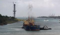 Pisti, Tug - Los Santos and Pilot Boat (Hear and Their) Tags: panama canal atlantic caribbean norwegian pearl colon gatun