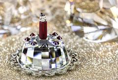 Happy Birthday (docoverachiever) Tags: swarovski crystal cake glass macro bokeh candle gold celebration birthday macromondays 3452