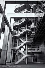 O-6106-Editwtmk (www.ThruMarzenasLens.com) Tags: fujitv japan marzenagrabczynskalorenc odaibaisland tokyo architecture bw building design futuristic staircase stairs travel wwwthrumarzenaslenscom