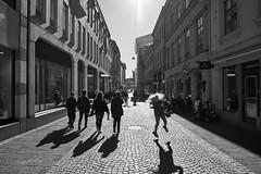 Just a regular walk. (stofil) Tags: zeisscameralenses walk blackandwhite monochrome pedestrian sonya7ii sonya7m2 zeissbatis batis25 göteborg gothenburg