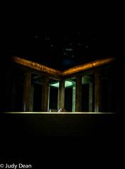 Julius Caesar (judy dean) Tags: judydean 2017 iphone stratforduponavon rsc theatre shakespeare juliuscaesar spqr play setting stage scenery pillars light